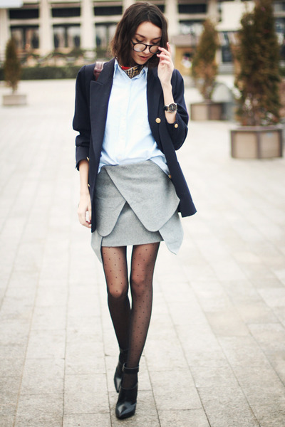 Choies skirt - Mango shoes - Marks and Spencer blazer