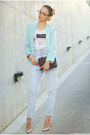 Shoes-jeans-blazer-bag-t-shirt