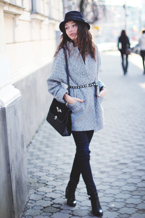 shoes - coat - jeans - hat - bag - belt