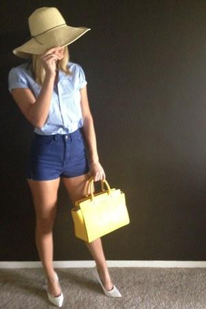 Ralph Lauren shirt - straw no brand hat - Michael Kors bag