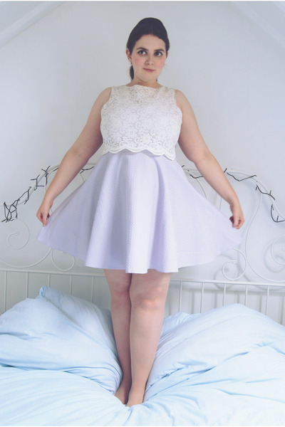 periwinkle lace River Island dress