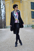 Zara boots - Sheinside coat - Zara bag - Sheinside sweatshirt