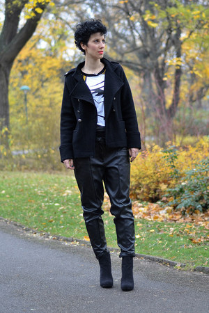 Zara jacket - Zara boots - wwwchoiescom sweater - H&M Trend pants