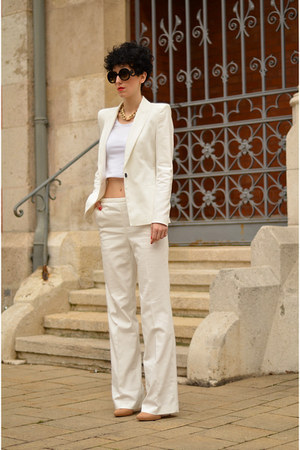 Zara blazer - zeroUV sunglasses - Zara pants