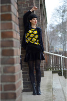 Sheinside sweater - Choies boots - H&M Trend blazer
