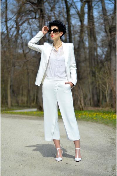 Zara shoes - Zara blazer - zeroUV sunglasses - AHAISHOPPING blouse - Zara pants