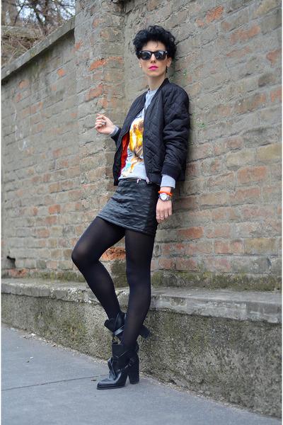 CRO for H&M sweatshirt - H&M jacket - zeroUV sunglasses - Rockwithu skirt