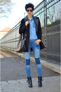Sheinside-coat-h-m-jeans-h-m-shirt-zerouv-sunglasses