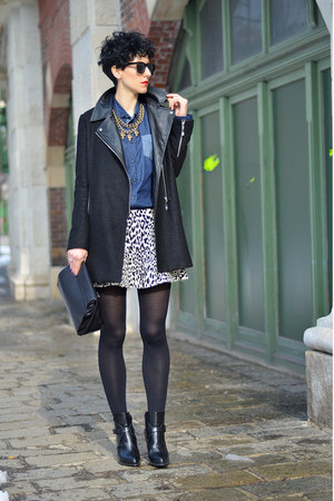 Zara boots - Sheinside coat - zeroUV sunglasses
