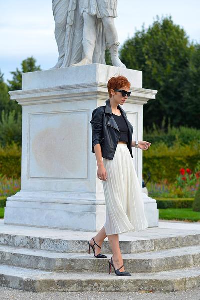 Martofchina shoes - Sheinside jacket - giant vintage sunglasses