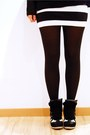 Black-h-m-jumper-white-black-and-white-h-m-skirt