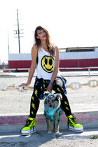 lightning bolt behoneybee leggings - smiley face MYVL top