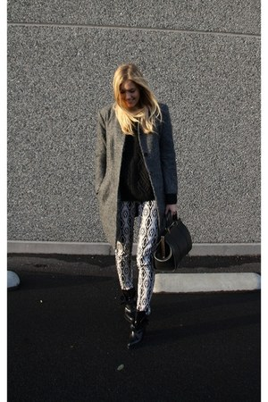 Zara boots - H&M pants