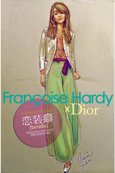 Portraits au crayon de Françoise Hardy Cream-christian-dior-shoes-cream-christian-dior-blazer-salmon-christian-dior_400