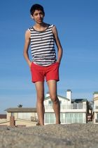 gray Urban Outfitters t-shirt - red American Apparel shorts - gold Forever 21 ne
