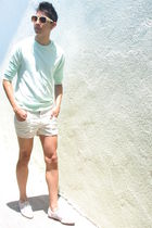 American Apparel sweater - American Apparel shorts - white Candela NYC shoes