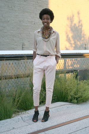 xensonfashion necklace - Jeffrey Campbell shoes - Levis pants - Gap blouse
