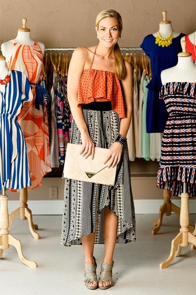 prints Vestique dress - clutch Vestique bag