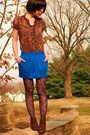 Brown-forever21-blouse-blue-target-skirt-brown-apostrophe-tights-blue-fore