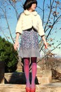 Beige-forever21-coat-blue-forever21-dress-red-walmart-tights-blue-forever2