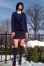 Blue-forever21-blazer-blue-forever21-dress-blue-walmart-socks-red-walmart-