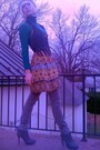 Green-walmart-top-orange-forever21-dress-gray-target-jeans-gray-gojane-boo