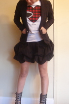 H&M jacket - Hellz Bellz t-shirt - Forever 21 skirt - Jeffrey Campbell shoes