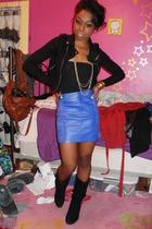 black Forever 21 shoes - H&M skirt - American Apparel shirt - H&M jacket