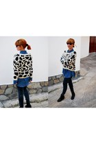 animal print fullah sugah sweater - ankle boots fullah sugah boots