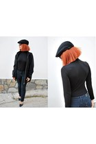 black H&M hat - slim fit 571 Levis jeans - chic fullah sugah heels