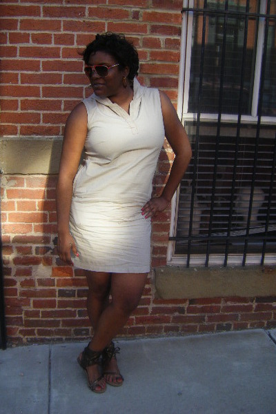 Gap dress - Forever21 shoes - rugged wearhouse sunglasses