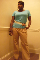 American Apparel t-shirt - Gap pants - Street Festival earrings - Street Festiva