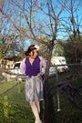 Purple-ross-sweater-purple-walmart-top-silver-old-navy-skirt-white-belt-