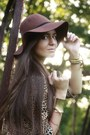 Dark-brown-h-m-hat-bronze-leopard-second-hand-shirt-crimson-romwe-wedges