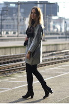 silver H&M Trend cardigan - Topshop boots - Levis jeans