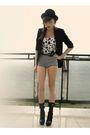 Black-topshop-blazer-black-bigstar-shoes-silver-m-s-allegro-shorts-white-d