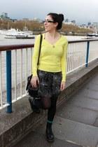 black Dr Martens boots - black new look dress - gray Gap jacket