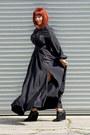 Black-asos-dress-black-bandage-wedges-rampage-wedges
