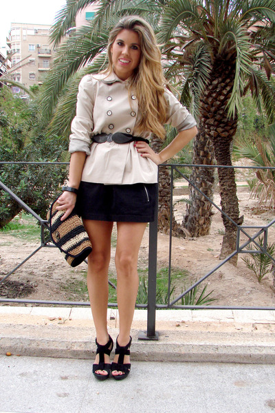 cream Zara jacket - BLANCO bag - black Zara heels - black BLANCO skirt