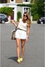 White-abaday-shorts
