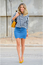 Choies skirt - Zara bag - Zara t-shirt