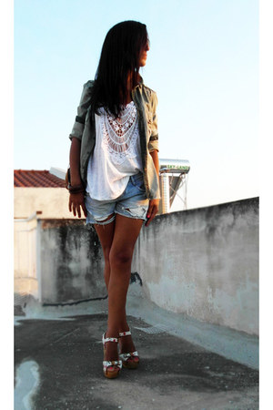 Zara jacket - Zara shirt - Zara shorts