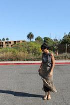 Forever 21 skirt - mickey mouse shirt - RAEN sunglasses - Aldo sandals