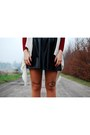Beige-diy-tights-black-szafapl-boots-ruby-red-no-name-sweater
