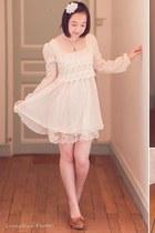 white lace angel love dress