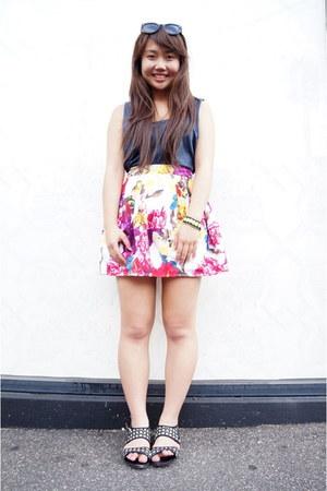 bardot skirt - Dotti sunglasses - supre top - general pants sandals