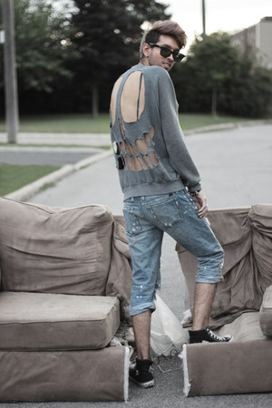 gray diy DIY sweatshirt