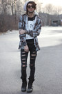 Black-crystal-castles-shirt-light-brown-hooded-flannel-shirt