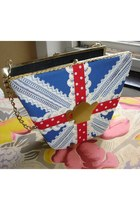 blue vintage box bag BOBU bag