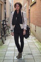 Isabel Marant jacket - Isabel Marant boots - Mango jeans - H&M jumper